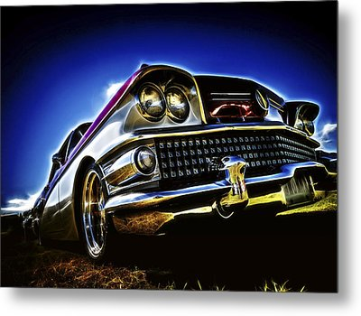 58 Buick Special Metal Print by motography aka Phil Clark