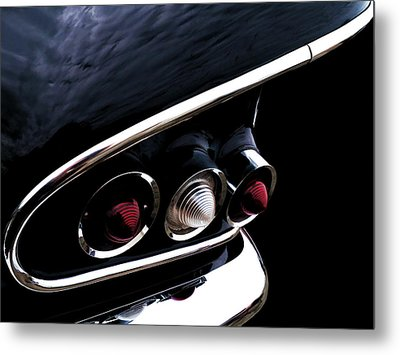 '58 Chevy Impala Fin Metal Print by Douglas Pittman