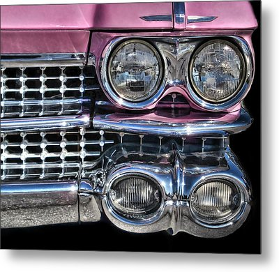 59 Caddy Lights Metal Print by Victor Montgomery