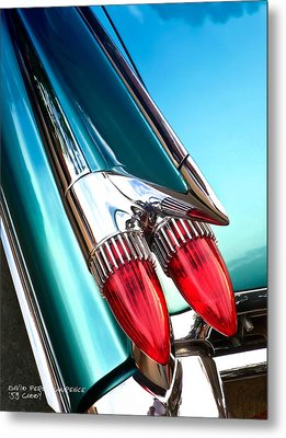 '59  Caddy Tail Fins Metal Print