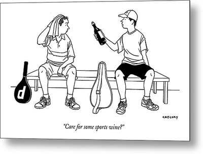 Care For Some Sports Wine? Metal Print