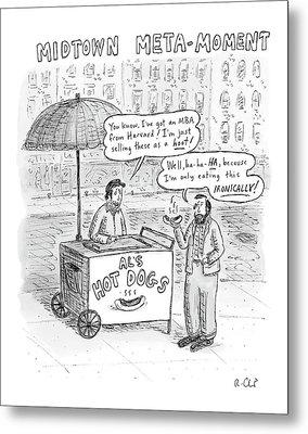New Yorker May 28th, 2007 Metal Print