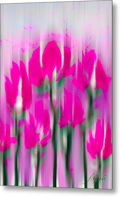 Metal Print featuring the digital art 6 1/2 Flowers by Frank Bright