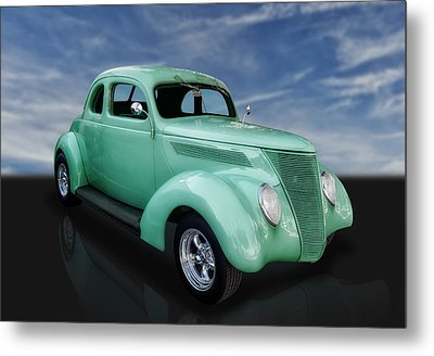 1937 Ford Coupe Metal Print by Frank J Benz
