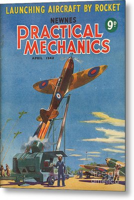 1940s Uk Practical Mechanics Magazine Metal Print by The Advertising Archives