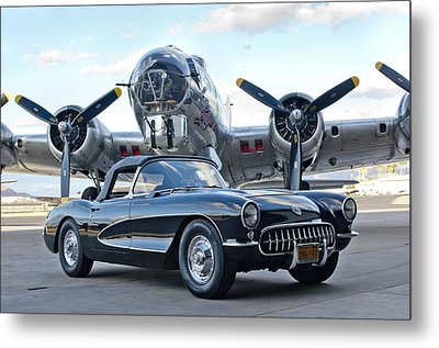 1957 Chevrolet Corvette Metal Print by Jill Reger