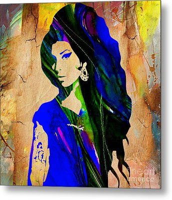 Amy Winehouse Collection Metal Print by Marvin Blaine