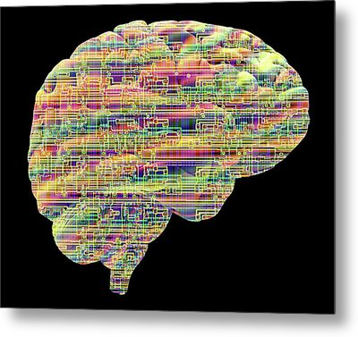 Artificial Intelligence And Cybernetics Metal Print