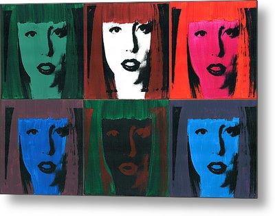 6 Artpop Aka Lady Gaga Metal Print by David K Parker