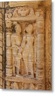 Bas Relief Chittaurgarh Citadel 6th Metal Print by Tom Norring