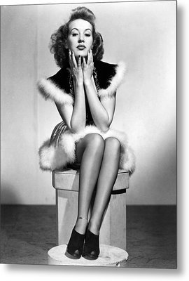 Betty Grable Metal Print by Silver Screen