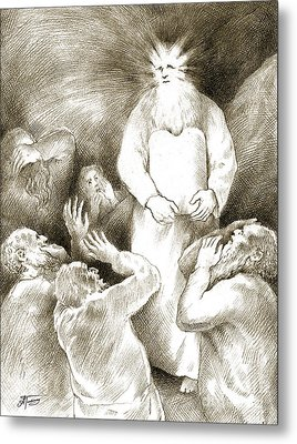 Biblical Illustration Metal Print by Alex Tavshunsky