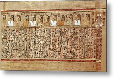 Book Of The Dead Or Papyrus Of Any. Ca Metal Print by Everett