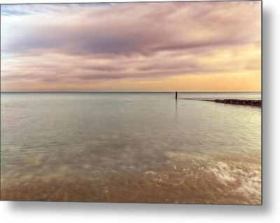 Breakwater Metal Print by Peter Lakomy