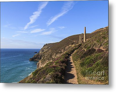 Chapel Porth Cornwall Metal Print