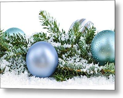 Christmas Ornaments Metal Print by Elena Elisseeva