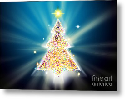 Christmas Tree Metal Print by Atiketta Sangasaeng