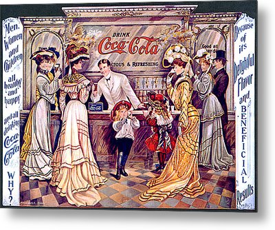 Coca - Cola Vintage Poster Metal Print by Gianfranco Weiss