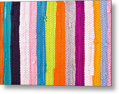 Colorful Textile Metal Print by Tom Gowanlock