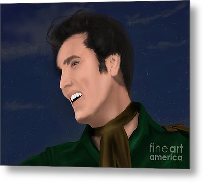 Elvis Presley    Loving You Metal Print