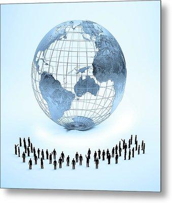Global Community Metal Print by Andrzej Wojcicki