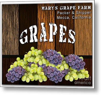 Grape Farm Metal Print