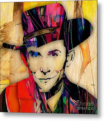 Hank Williams Collection Metal Print by Marvin Blaine