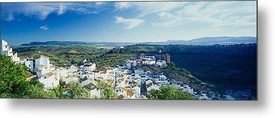 High Angle View Of Buildings In A Town Metal Print by Panoramic Images