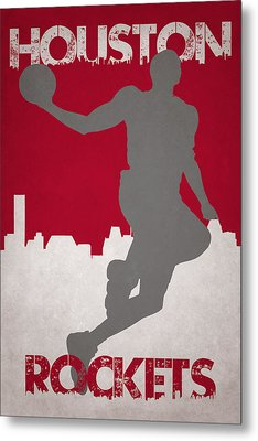 Houston Rockets Metal Print by Joe Hamilton