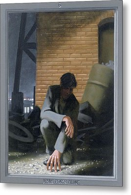 6. Jesus Prays Alone / From The Passion Of Christ - A Gay Vision Metal Print by Douglas Blanchard