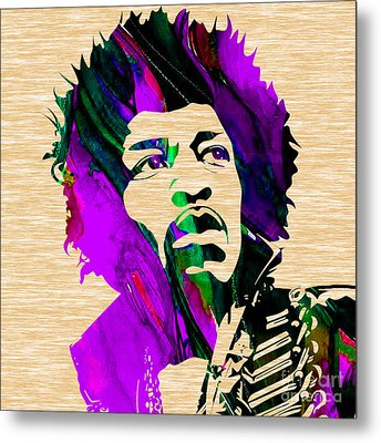 Jimi Hendrix Collection Metal Print by Marvin Blaine