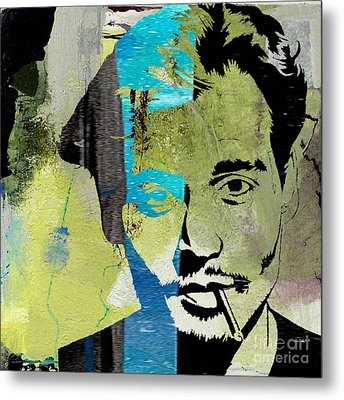 Johnny Depp Metal Print by Marvin Blaine