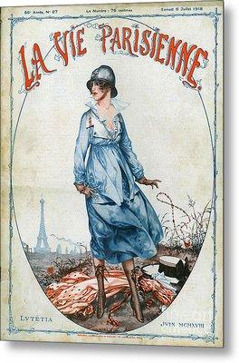 La Vie Parisienne 1918 1910s France Cc Metal Print by The Advertising Archives