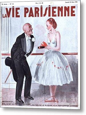 La Vie Parisienne 1935 1930s France Metal Print by The Advertising Archives