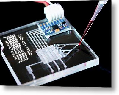 Lab On Chip Metal Print by Wladimir Bulgar