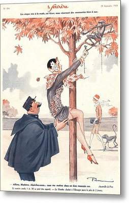 Le Sourire 1920s France Glamour Erotica Metal Print by The Advertising Archives