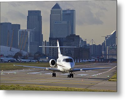 London City Airport Metal Print by David Pyatt