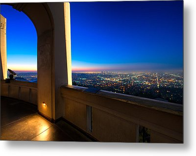 Los Angeles As Seen From The Griffith Observatory Metal Print by Celso Diniz
