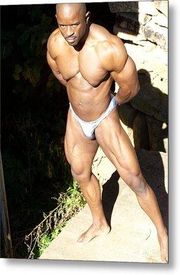 Male Muscle  Metal Print by Jake Hartz