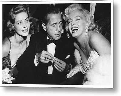 Marilyn Monroe Lauren Bacall Humphrey Bogart How To Marry A Millionaire Premiere November 4 1953 Metal Print