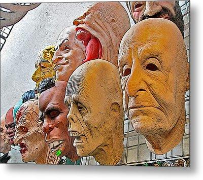 Masks. Next To Charles Bridge. Prague. Czech Republic. Metal Print by Andy Za