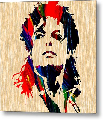 Michael Jackson Painting Metal Print by Marvin Blaine