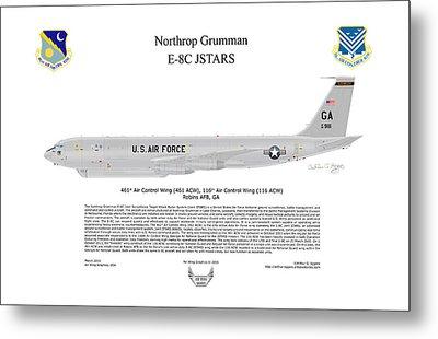 Northrop Grumman E-8c Jstars Metal Print