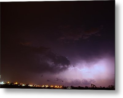 Our 1st Severe Thunderstorms In South Central Nebraska Metal Print