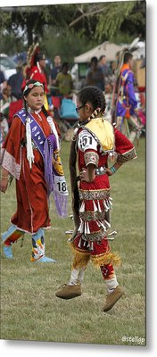 Pow Wow Metal Print by Stellina Giannitsi