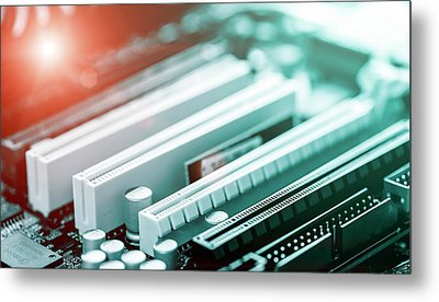 Printed Circuit Board Metal Print by Wladimir Bulgar