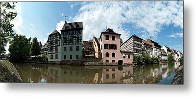 Reflection Of Buildings On Water Metal Print by Panoramic Images