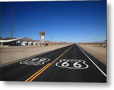 Route 66 Shield Metal Print by Frank Romeo