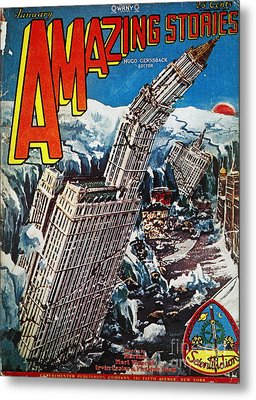 Science Fiction Magazine Metal Print by Granger