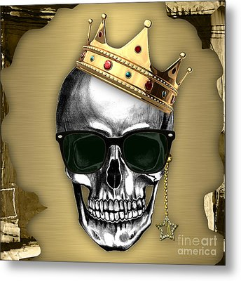 Skull Art Collection Metal Print by Marvin Blaine